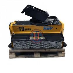Têtes de broyage FEMAC Tête de broyage forestière T9 DF 90 REV pour mini pelle entre 6T et 12T
