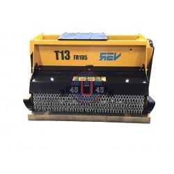 Têtes de broyage FEMAC Tête de broyage forestière T13 FR 105 REV pour mini pelle entre 8T et 16T