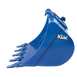 Godets de terrassement  Godet KLAC C 250mm terrassement standard pour minipelle entre 0,6-1,2T
