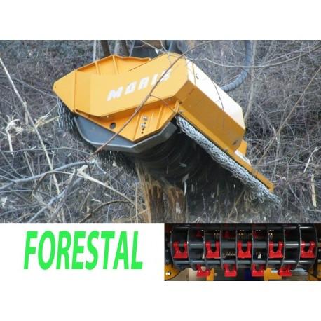 Têtes de broyage FEMAC Tête de broyage forestière T11 FR 130 pour mini pelle entre 8 et 12T
