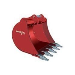 Godets de terrassement  Godet terrassement standard 250 MM en a/r MARTIN M02 pour minipelle entre 0,6-1,2T