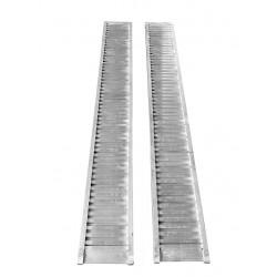 Rampes de chargement pour mini pelle sans rebords Longueur MM : 4500 capacité de chargement KG : 9600 largeur MM : 620