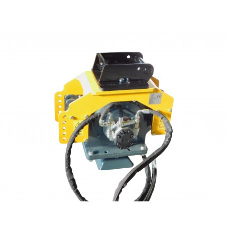 Enfonce Pieux  Enfonce pieux à vibrations avec pince PB401B pour mini pelle entre 5,0-12 T