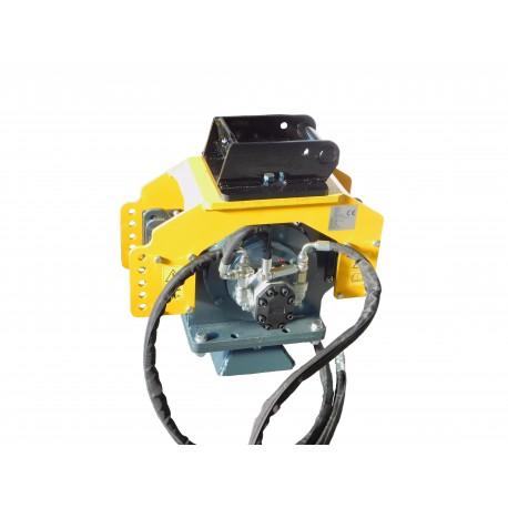 Enfonce pieux à vibrations avec pince PM602B pour mini pelle entre 15-28 T