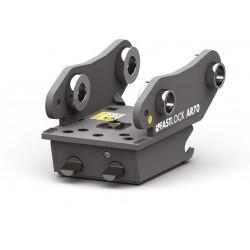 Attaches rapides pour pelle dédiée CANGINI BENNE Attache rapide mécanique MBI / CANGINI AR15 pour mini pelle entre 0,6-1,2 T