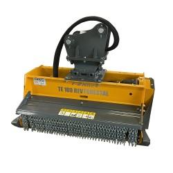 Têtes de broyage FEMAC Tête de broyage forestière T13 DF 130 REV pour mini pelle entre 10T et 16T