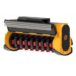 Têtes de broyage FEMAC Tête de broyage forestière T15 DF 130 REV pour pelle entre 12T et 25T
