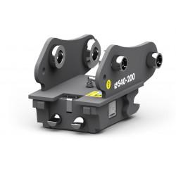 Attaches rapides pour pelle dédiée CANGINI BENNE Attache rapide mécanique réversible S NORDIC S30-150 pour mini pelle entre 0...