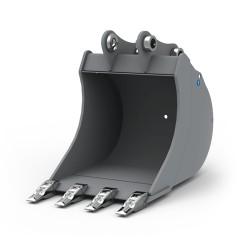 Godet terrassement standard 250 MM pour minipelle entre 1,2-1,8T