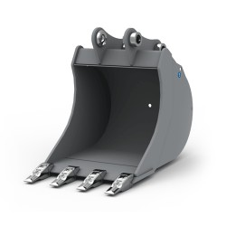 Godets pour pelle CANGINI BENNE Godet terrassement standard 250 MM pour minipelle entre 1,2-1,8T